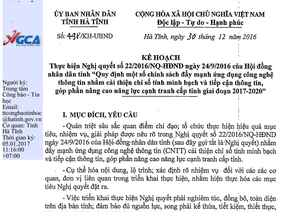 Kế hoạch số 498/KH-UBND thực hiện Nghị quyết số 22/2016/NQ-HĐND ngày 24/9/2016 của Hội đồng nhân dân tỉnh