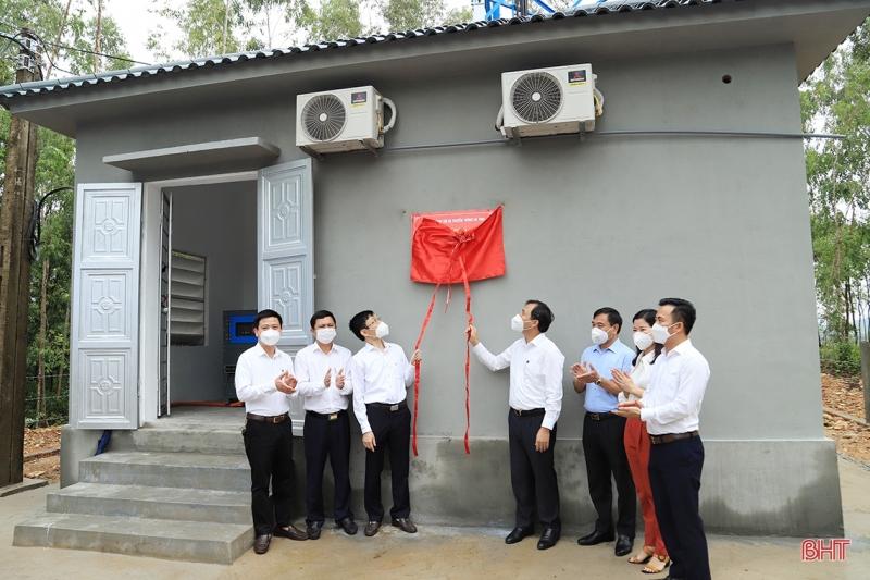 Khai trương đưa trạm thu phát sóng di động đảm bảo thông tin liên lạc cho khu vực Hồ Kẻ Gỗ