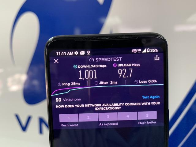 Thử nghiệm mạng 5G của VinaPhone tại Việt Nam có thời điểm đạt tốc độ 1Gbps
